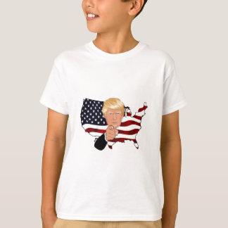 Trump President Uncle Sam Usa America Flag T-Shirt