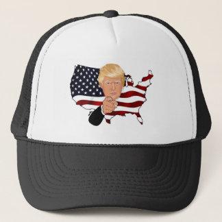 Trump President Uncle Sam Usa America Flag Trucker Hat