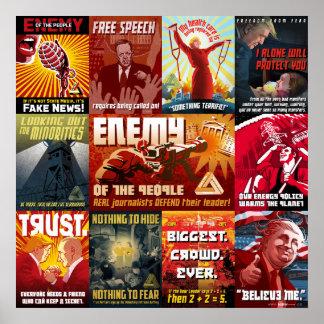 Trump Propaganda Poster, 11-in-1 Poster