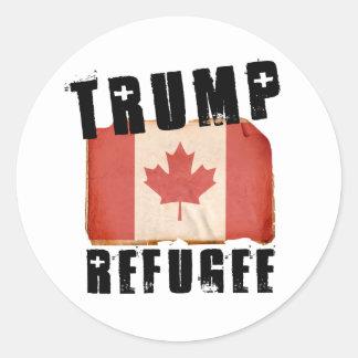 Trump Refugee - American Refugee - -  Classic Round Sticker