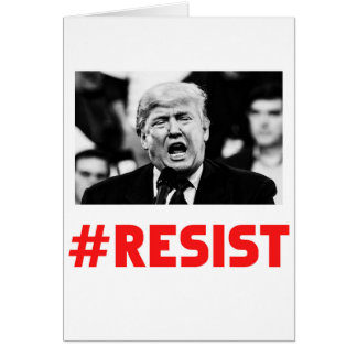 TRUMP RESIST CARD