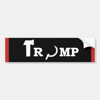TRUMP RUSSIAN SOVIET BUMPER STICKER