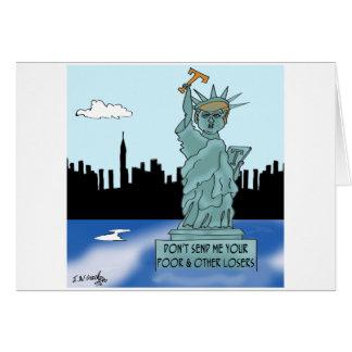 Trump's Statue of Liberty Card