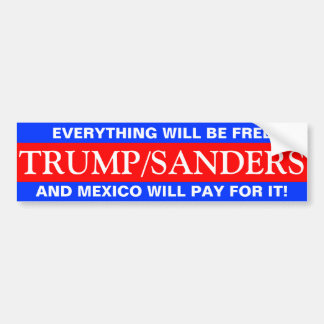 TRUMP SANDERS BUMPER STICKER