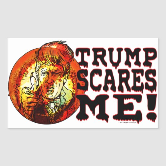 Trump Scares Me 2016 Sticker