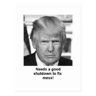 Trump shutdown postcard
