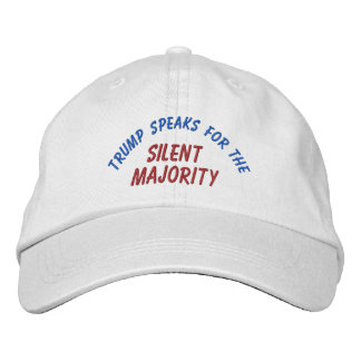 Trump Silent Majority Embroidered Hat