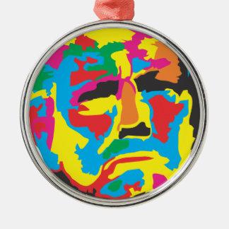 Trump Silver-Colored Round Ornament