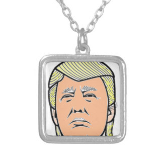 Trump Silver Plated Necklace