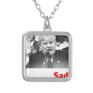 TRUMP SIZE QUEEN - SAD SILVER PLATED NECKLACE