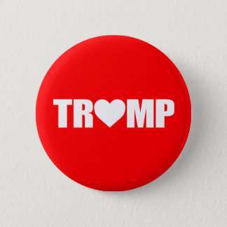 """""""'TRUMP' SPELLED WITH HEART"""" 2 INCH ROUND BUTTON"""