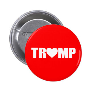 """'TRUMP' SPELLED WITH HEART"" 2 INCH ROUND BUTTON"
