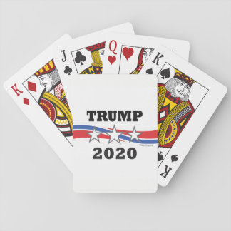Trump Stars and Stripes 2020 Politcal Campaign USA Playing Cards