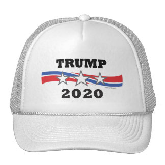 Trump Stars and Stripes 2020 Politcal Campaign USA Trucker Hat