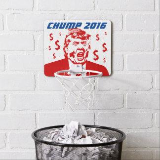 "Trump Sucks! ""CHUMP 2016"" Mini Basketball Hoop"
