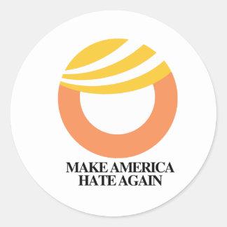 TRUMP SYMBOL - Make America Hate Again -- Anti-Tru Classic Round Sticker