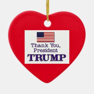 Trump Thank You Ceramic Ornament