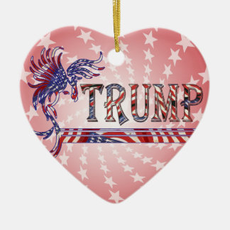 TRUMP - THE EAGLE RISES CERAMIC HEART ORNAMENT