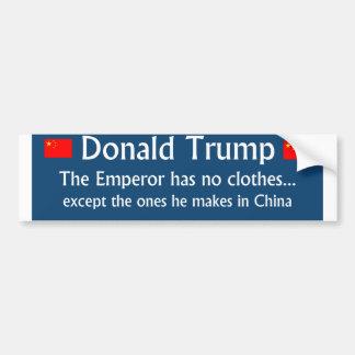 Trump: The Emperor has no Clothes 2016 Bumper Sticker