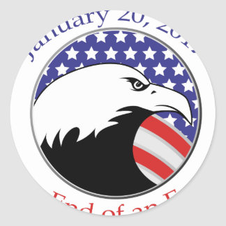 Trump: The End of an Error Classic Round Sticker