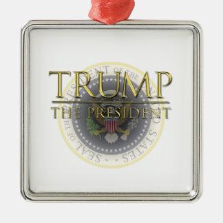 Trump - The President Premium Square Ornament