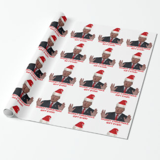 Trump, the worst Christmas gift ever! Wrapping Paper