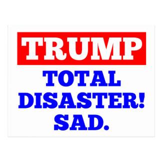 TRUMP = Total Disaster! Sad. White Postcard