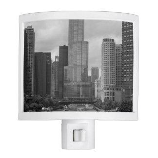 Trump Tower Chicago River Grayscale Nite Lite