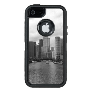 Trump Tower Chicago River Grayscale OtterBox Defender iPhone Case