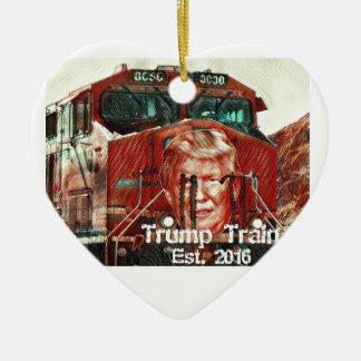 Trump Train...Est. 2016 Ceramic Heart Ornament