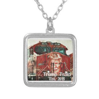 Trump Train...Est. 2016 Silver Plated Necklace
