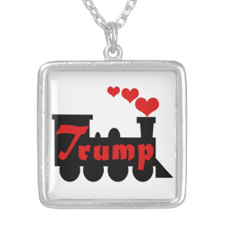 Trump Train Victory Silver Plated Necklace