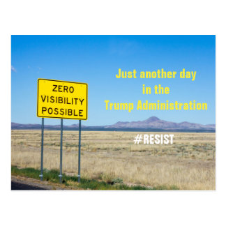 Trump Transparency Resistance 2 Postcard