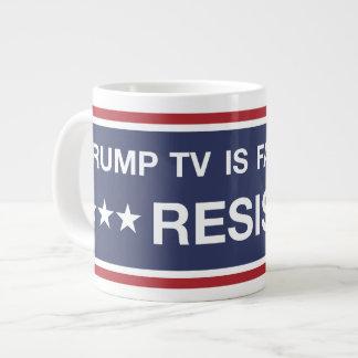 Trump TV Is Fake News Large Coffee Mug