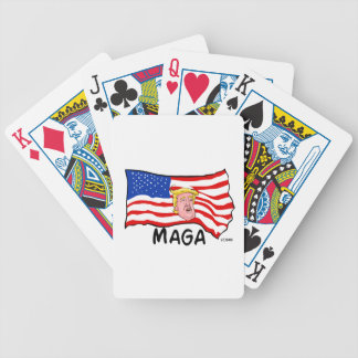 TRUMP US FLAG MAGA BICYCLE PLAYING CARDS