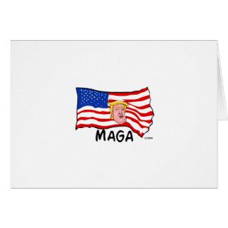 TRUMP US FLAG MAGA CARD