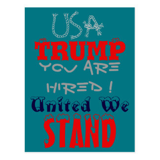 Trump USA President United We Stand Postcard