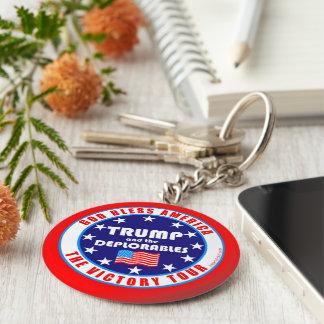 Trump Victory Tour Patriotic American Pro Trump Basic Round Button Keychain