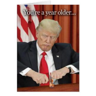 Trump Violin Birthday Humour Card