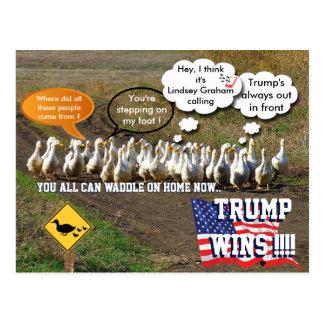 Trump wins postcard