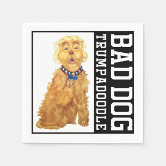 Trumpadoodle Bad Dog Napkins Disposable Napkins