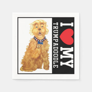Trumpadoodle Love My Dog Napkins Disposable Napkin