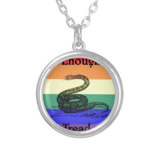 Trumped Enough Already Silver Plated Necklace