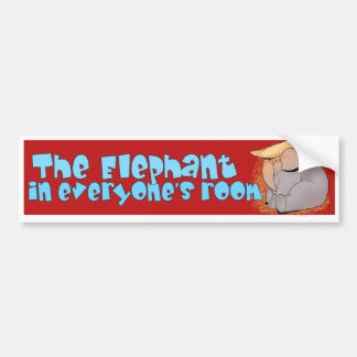 Trumpephant Bumper Sticker
