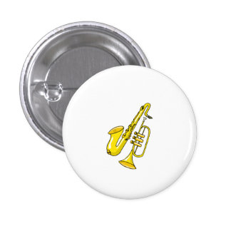 Trumpet And Saxophone Pinback Button