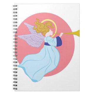 Trumpet Angel Spiral Notebooks