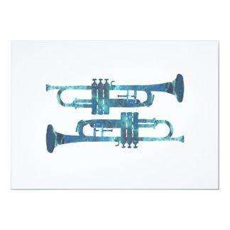 Trumpet Art Card