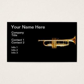 Trumpet Brass Horn Wind Musical Instrument Business Card