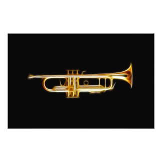 Trumpet Brass Horn Wind Musical Instrument Custom Stationery