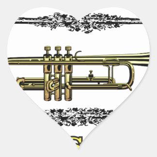 trumpet brass pass heart sticker